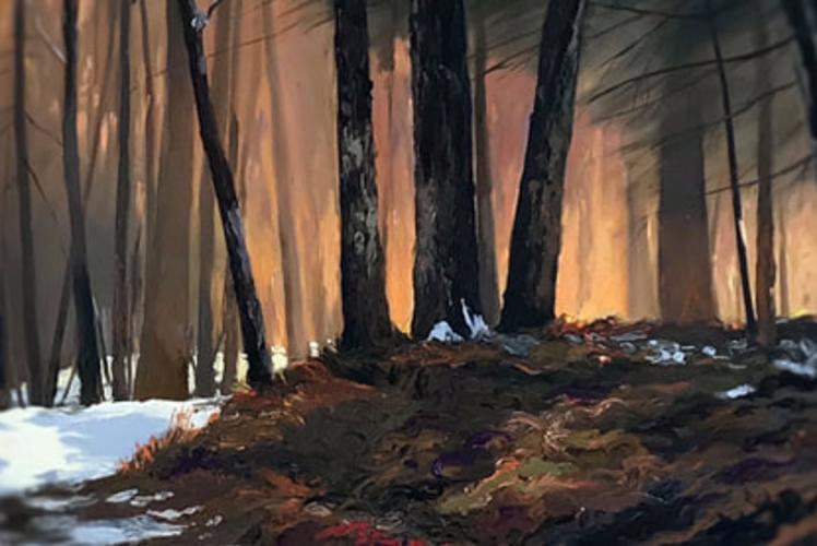 Rachel Murphy's oil painting