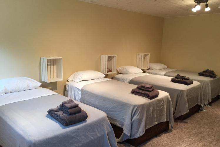 Curvue Hideaway & Trees Retreat Center massage room in Eau Claire, Wisconsin