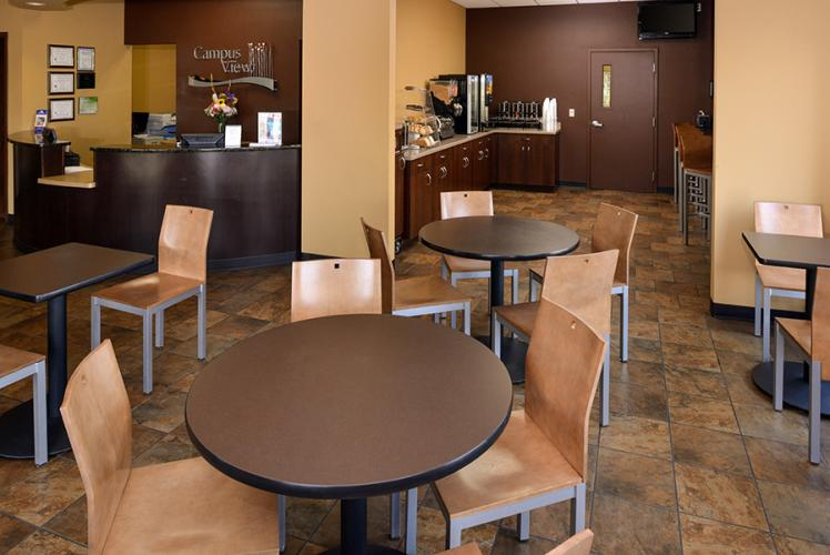 Americas Best Value Inn Campus View Lobby Area in Eau Claire, Wisconsin