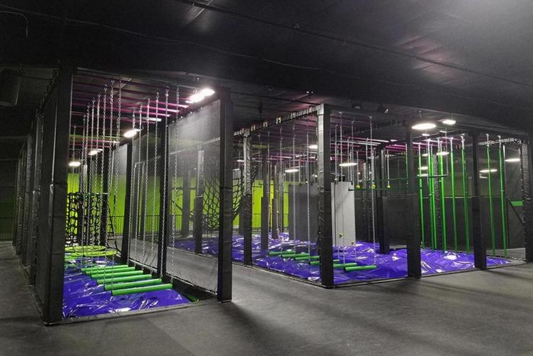 Action City Trampoline Park & Fun Center ninja course overview