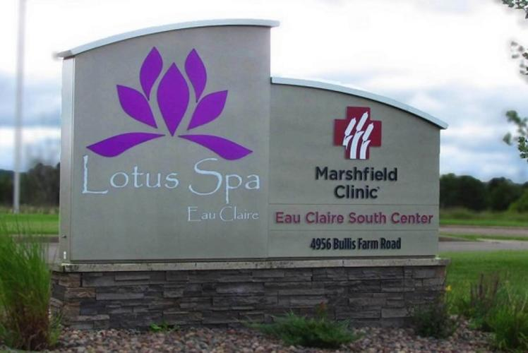 Lotus Spa Signage in Eau Claire, WI