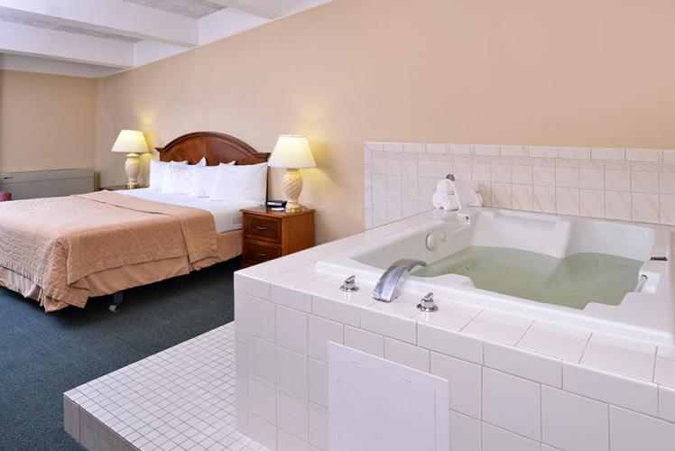 Americas Best Value Inn Campus View Whirl Pool and Bed in Eau Claire, Wisconsin