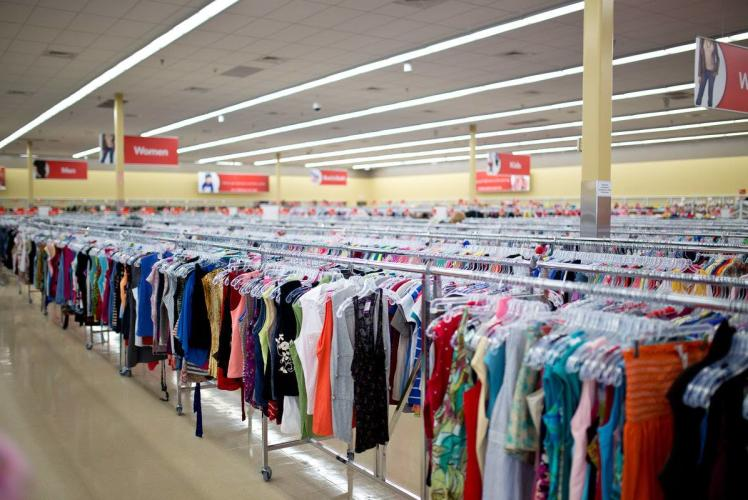 Savers: view of the clothing