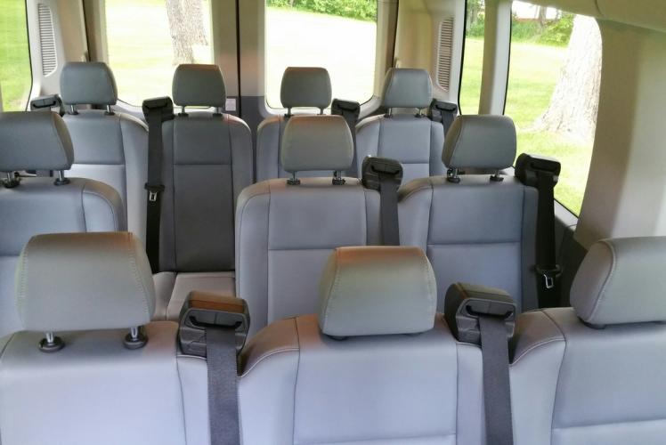 Inside Smaller Bus