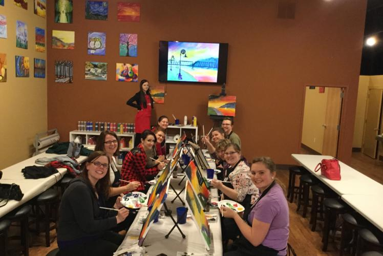 RCU painting Phoenix Park at Cheers Pablo in Eau Claire, Wisconsin!