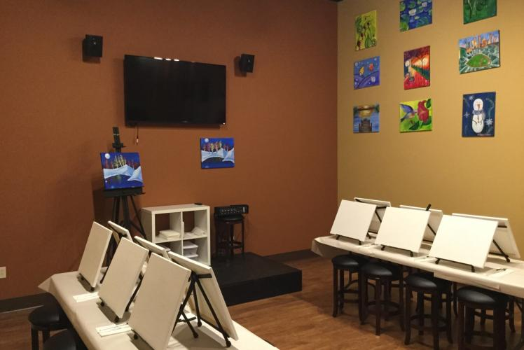 Private Room, can be reserved for 10 - 30 people, choose your own masterpiece to paint!