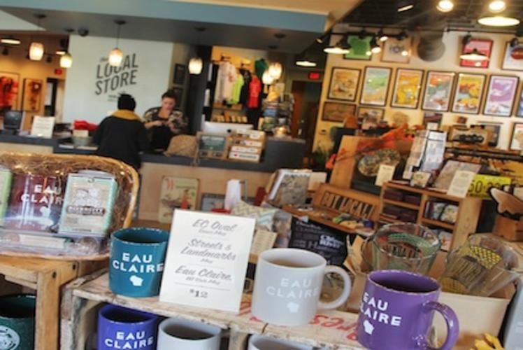 The Local Store interior in Eau Claire, Wisconsin