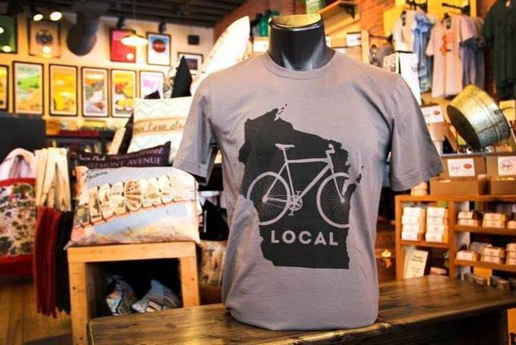 The Local Store Shopping - Bike Tshirt sold in Eau Claire, Wisconsin
