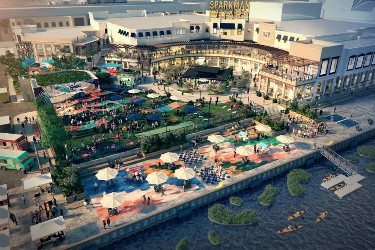 Sparkman Wharf Aerial render