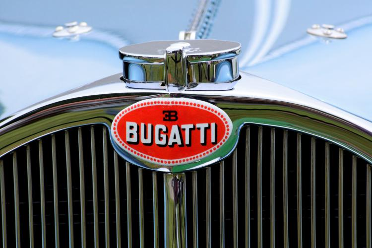 Bugatti front end grill closeup