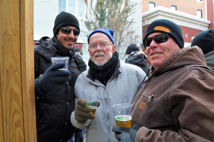 Three men at Druthers