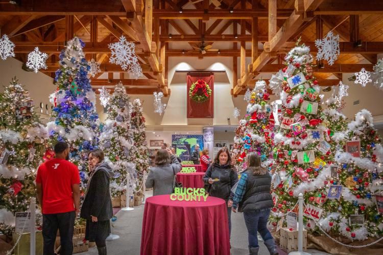 Holiday Trees at the Visitor Center 2018