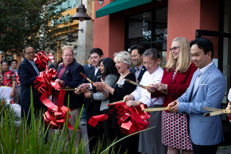 Ribbon cutting ceremony at Tim Ho Wan in Irvine