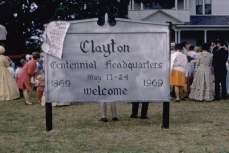 Clayton Anniversary Photo Sign