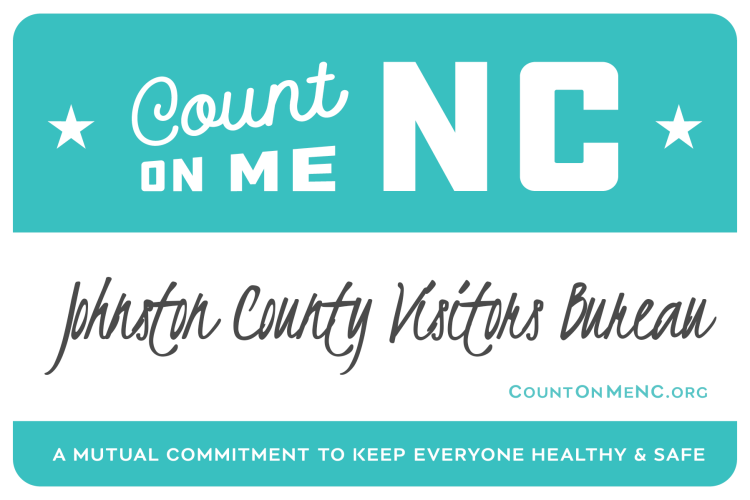 Count on Me NC Badge for JCVB, Smithfield, NC.