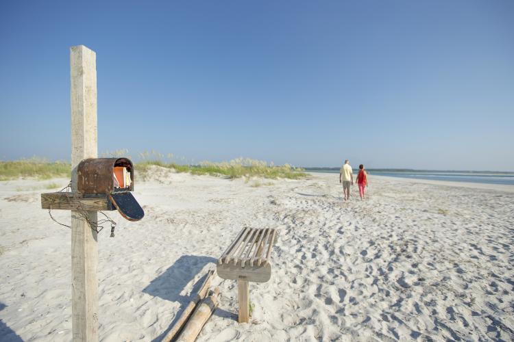 Mailbox on beach
