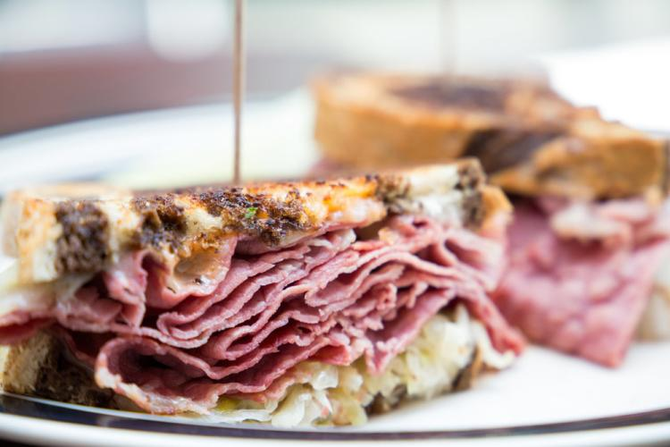 Saratoga's Bway Deli pastrami sandwich