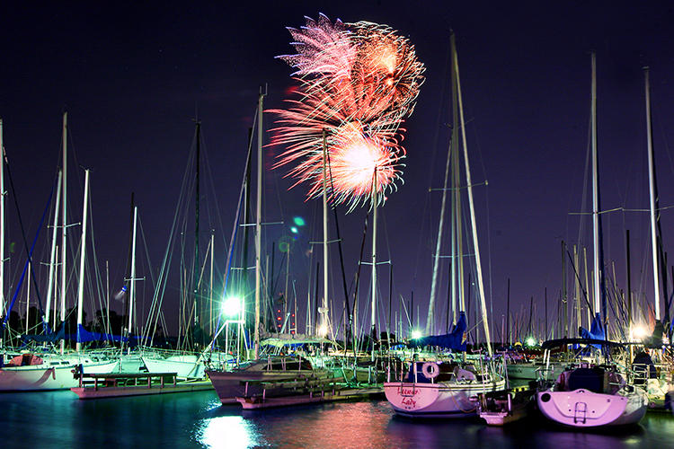 Fireworks at Marina