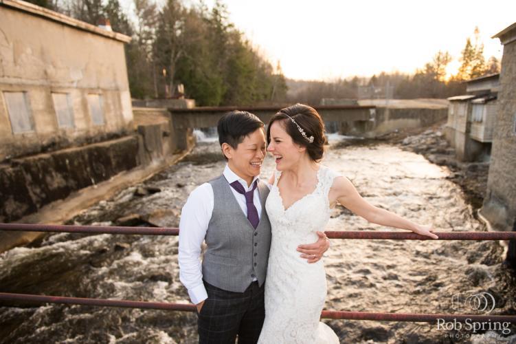 Couple at Mansion Inn Saratoga on wedding day