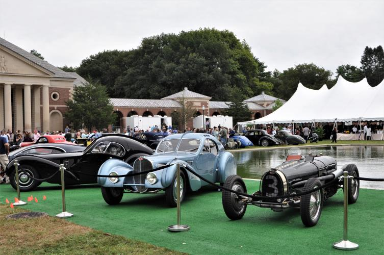 Bugattis roped off for security