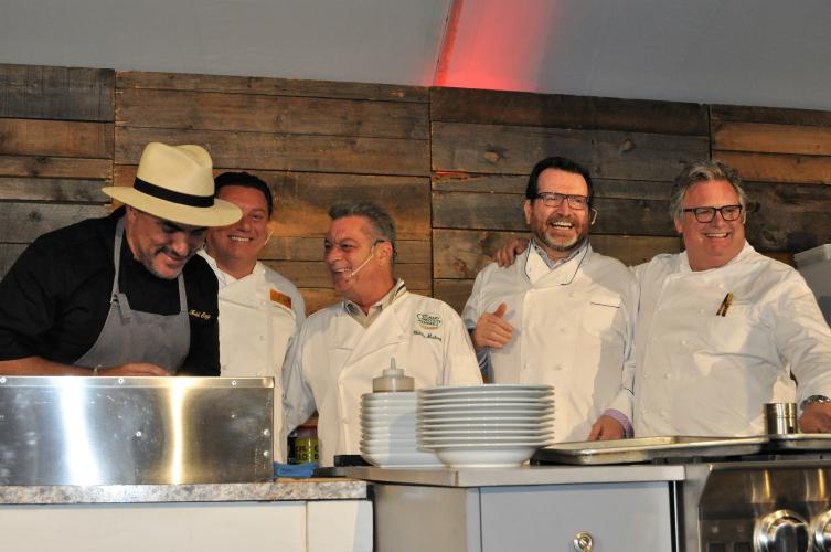 Chefs on stage