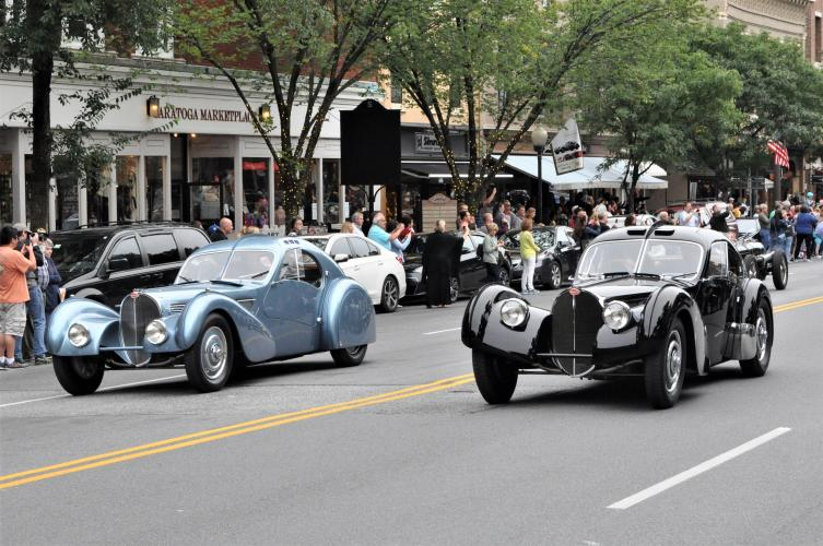 Featured Bugattis in parade