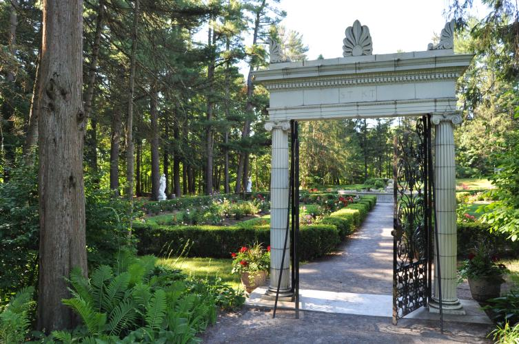 Yaddo entrance gate to gardens