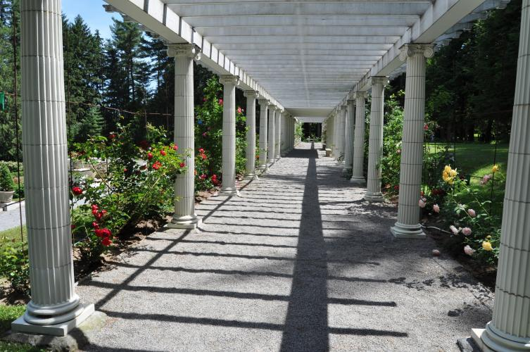 Yaddo pergola long view