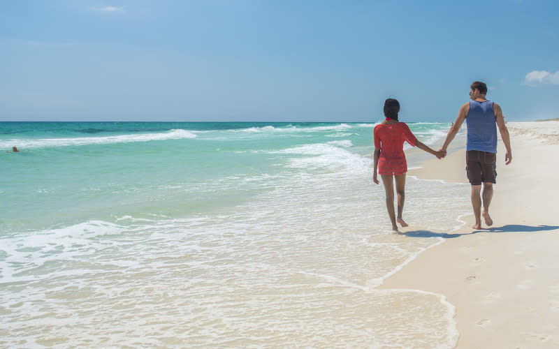 Experience Couple Walking Beach