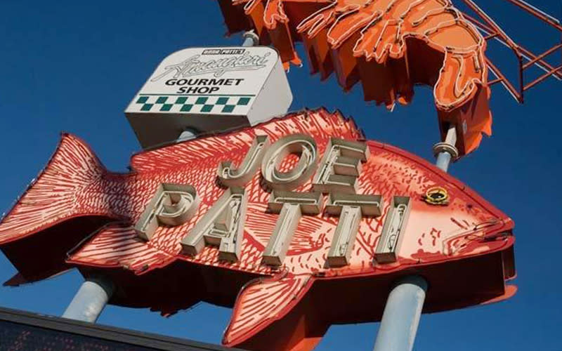 Joe Patti's Seafood sign