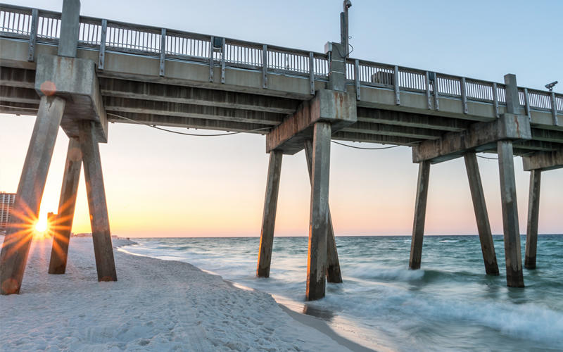 Sunrise at Pensacola Beach Pier