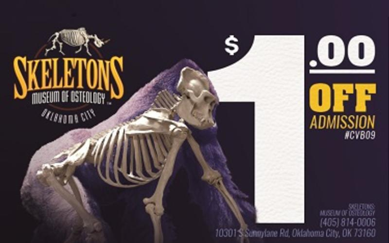 1 Off Admission To Skeletons Museum Of Osteology