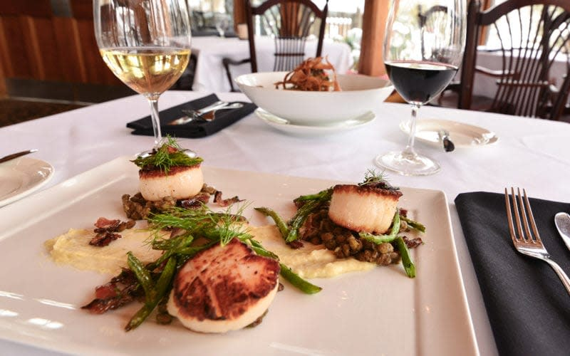 Helen's Scallops at Seven Springs