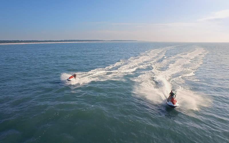 Jet Skis on ocean/waterway