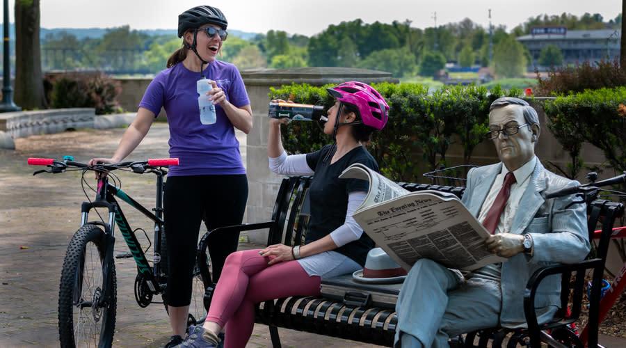 Biking Break on Capital Area Green Belt