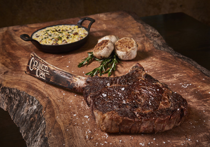 Counci Oak Steaks & Seafood, Long Bone Ribeye