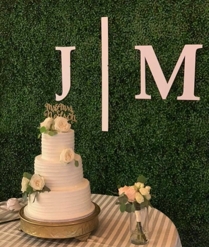 Hedge backdrop for Cake