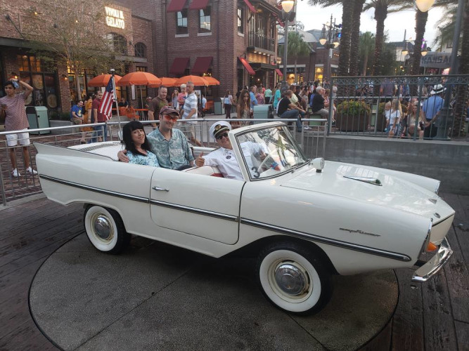 Amphicar ride at Disney Springs