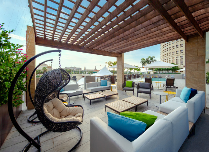 Pool Deck Lounge Area