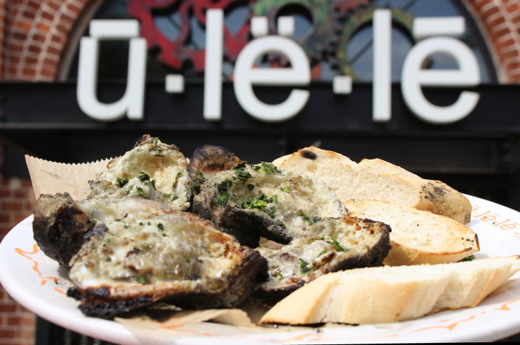 Ulele's signature charbroiled oysters