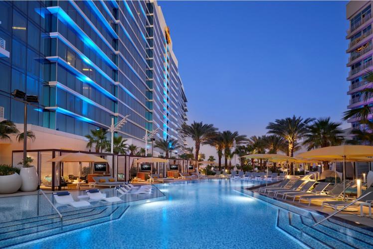 Seminole Hard Rock Tampa Pool Sundown