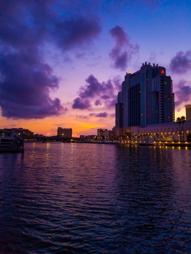 Sunset by the Riverwalk
