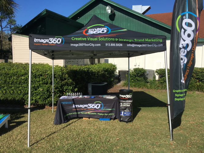Outdoor Event Tents and Signage