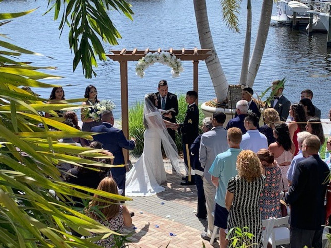Wedding day on the Bay