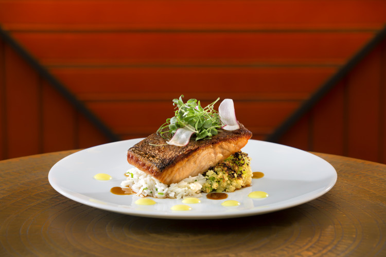 The Rez Grill, Skuna Bay Salmon