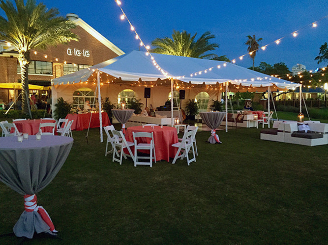 Waterfront events with sunset views.