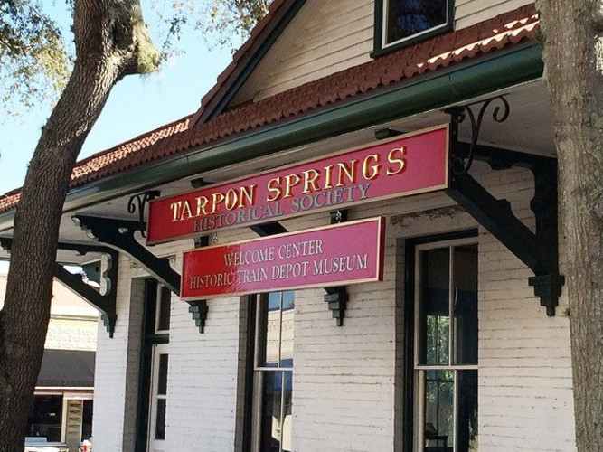 Historic Train Depot in Downtown Tarpon Springs