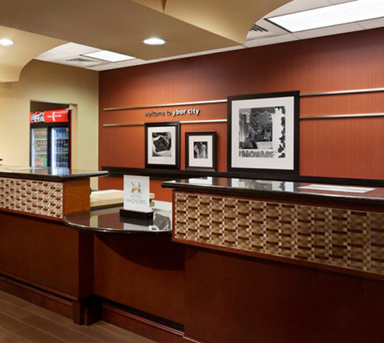 Front Desk Hampton Inn Ybor City Hotel