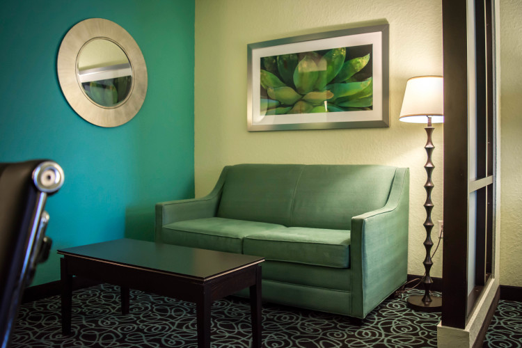 Separate Sitting Area in Guest Suites