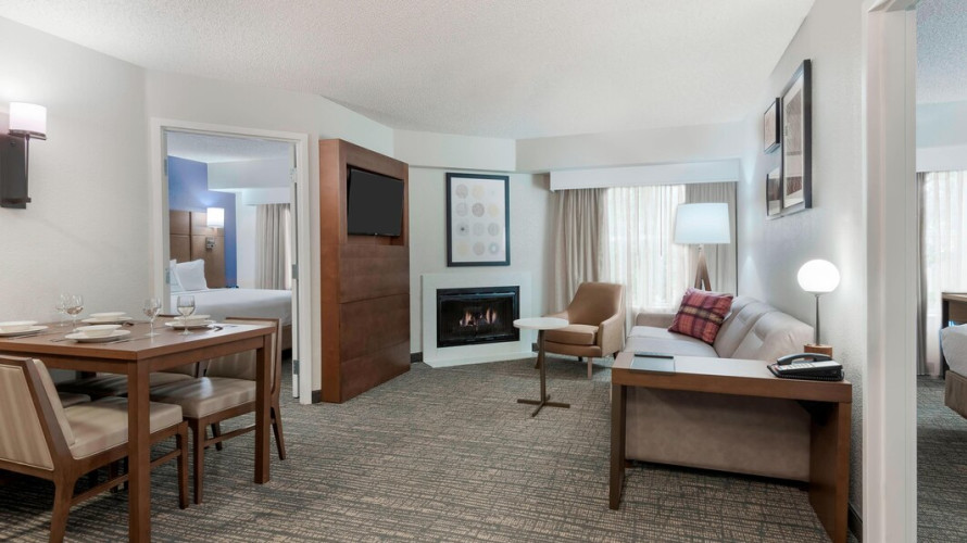 two bedroom suite living area